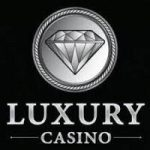 Luxury casino logo with black background
